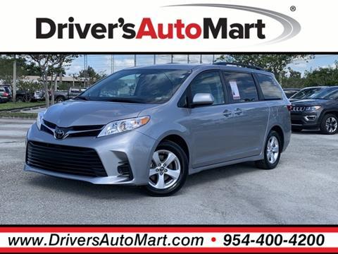 2018 Toyota Sienna for sale in Davie, FL