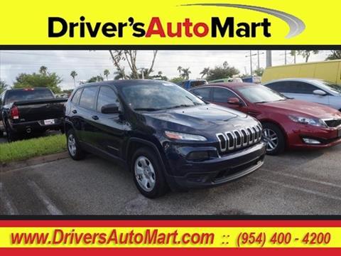 2015 Jeep Cherokee for sale in Davie, FL