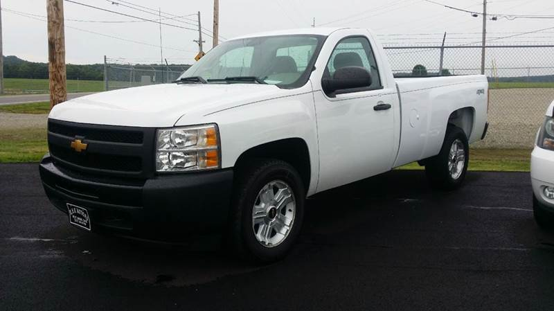 2012 Chevrolet Silverado 1500 4x4 Work Truck 2dr Regular Cab 8 ft. LB - West Union OH