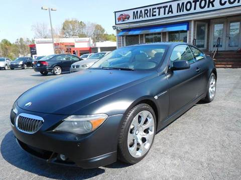2006 BMW 6 Series for sale in Marietta, GA