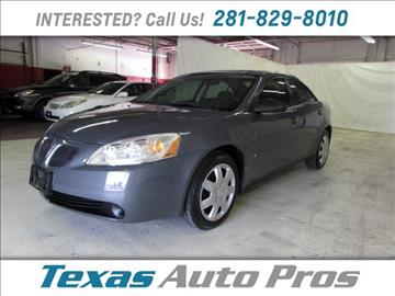 2007 Pontiac G6 for sale in Houston, TX