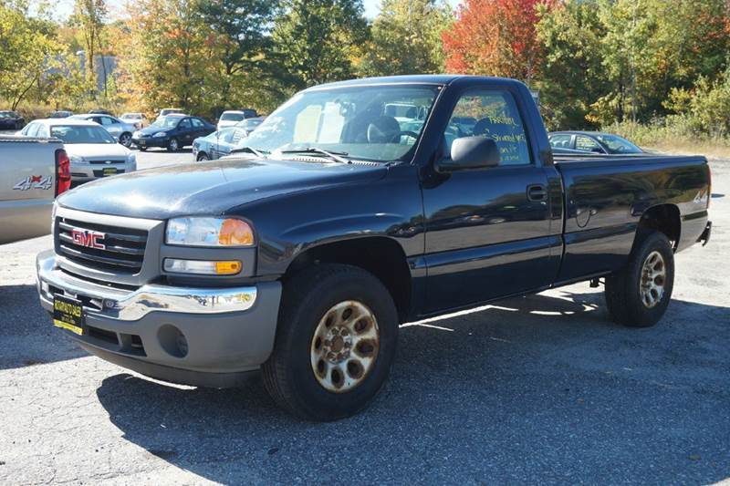 2005 gmc sierra 1500 2dr regular cab work truck 4wd lb in lewiston me rotary auto sales. Black Bedroom Furniture Sets. Home Design Ideas