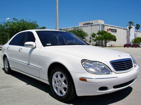 2002 mercedes benz s class for sale pompano beach fl for Mercedes benz 2002 s500 for sale