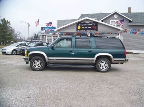 used 1999 chevrolet suburban for sale ohio. Black Bedroom Furniture Sets. Home Design Ideas