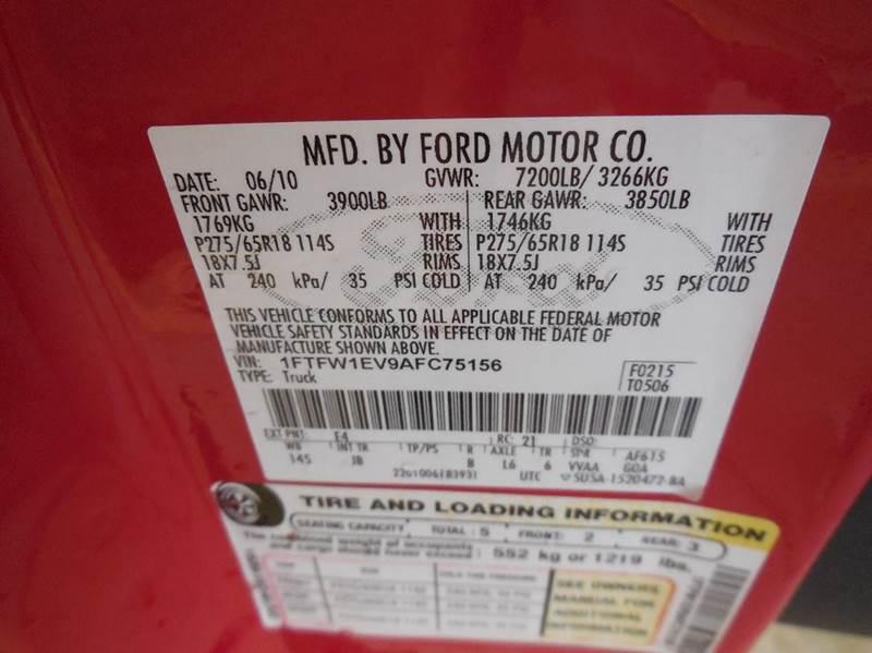 2010 Ford F-150 FX4 4x4 4dr SuperCrew Styleside 5.5 ft. SB - Cartersville GA