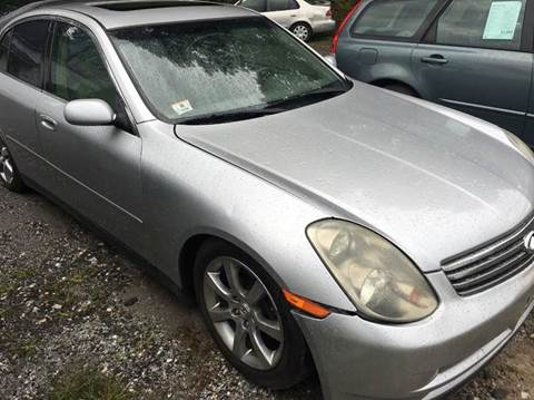 2003 Infiniti G35 for sale in Middletown, NY