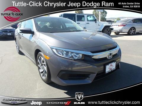 2016 Honda Civic for sale in Irvine CA