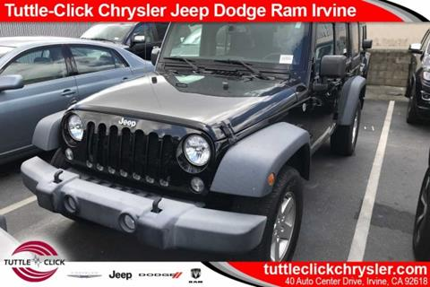 2015 Jeep Wrangler Unlimited for sale in Irvine, CA