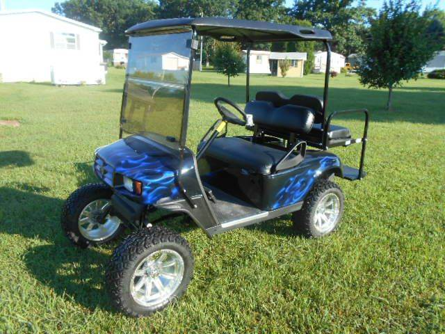 2011 EZ-GO Sport Golf Cart 4 Lifted Passenger