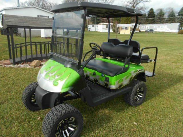 2011 EZ-GO Lifted Golf Cart RXV 4 Passenger