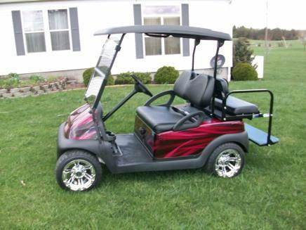 2007 Club Car Precedent   Custom 4 Passenger, Airbrushed Body - Acme, PA