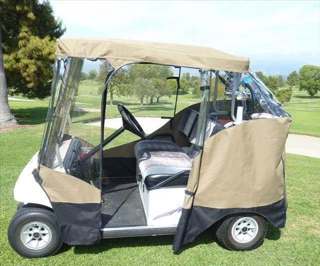 2012 Golf Cart Weather Cover Vinyl with Zip Open Windows