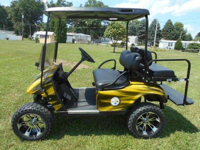 2007 STEELER Themed Golf Cart  Lifted EZ-GO