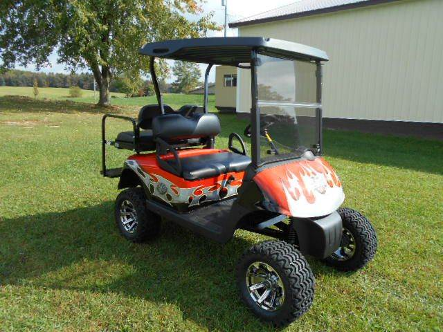 2008 EZ-GO Lifted Golf Cart Harley Davidson Customized