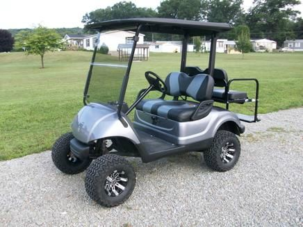 2007 Yamaha Lifted Golf Cart 4 Passenger with Striped Seats - Acme, PA