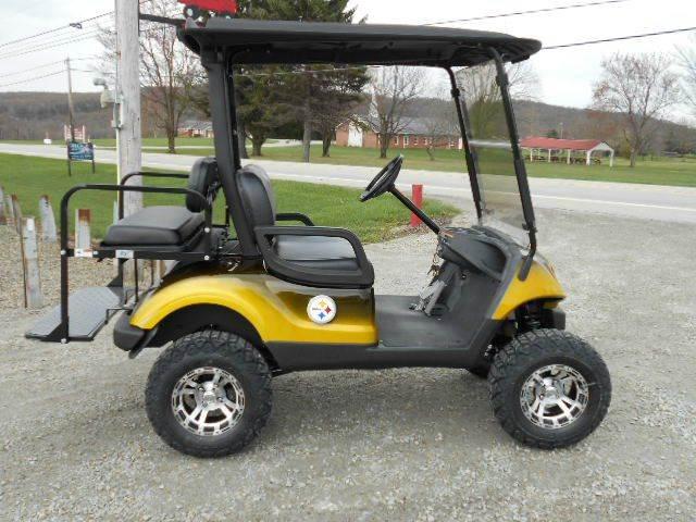 2008 Pittsburgh Steeler Lifted Golf Cart Yamaha 4 Passenger