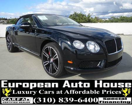2014 Bentley Continental GTC V8 for sale in Los Angeles, CA