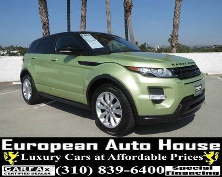 2012 Land Rover Range Rover Evoque for sale in Los Angeles, CA