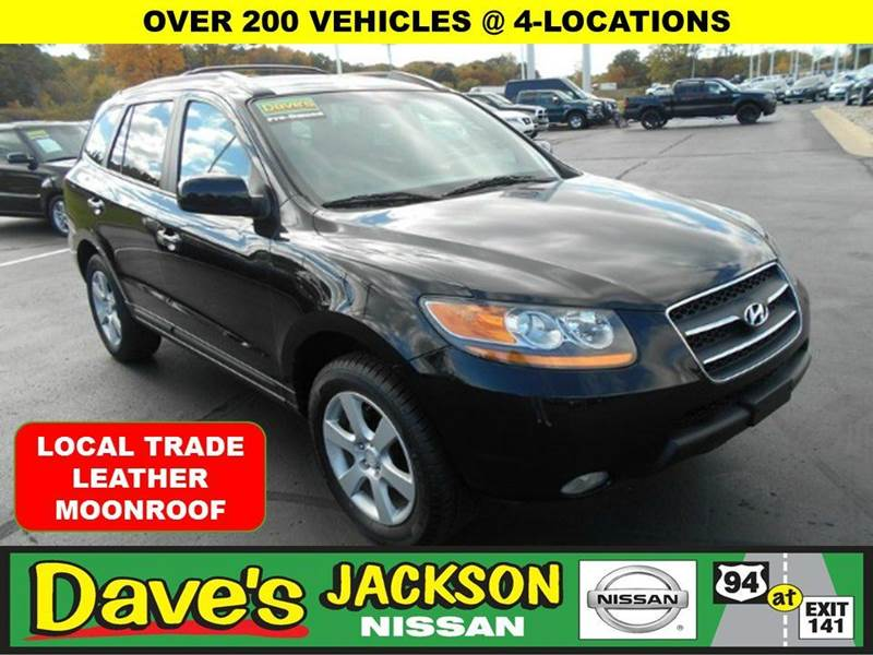 2009 HYUNDAI SANTA FE LIMITED 4DR SUV black 3000 push pull or drag reflected in the price liste