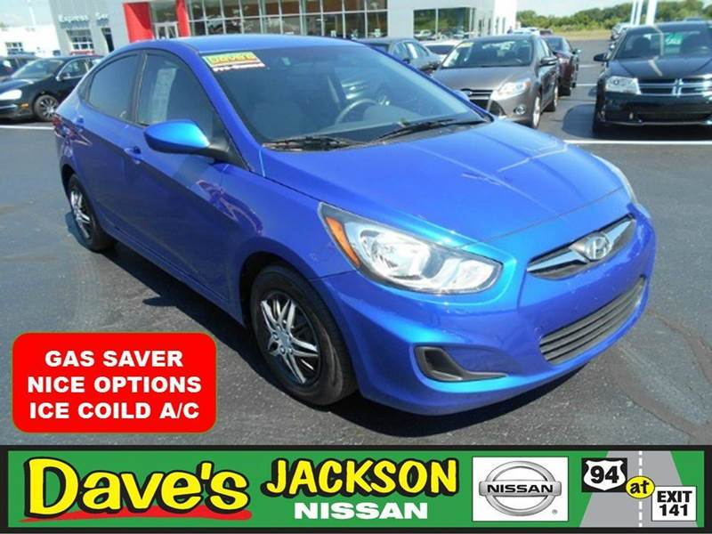 2014 HYUNDAI ACCENT GLS 4DR SEDAN blue 3000 push pull or drag reflected in the price listed