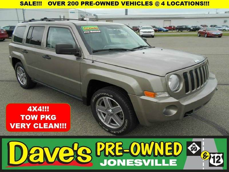 2008 JEEP PATRIOT SPORT 4X4 4DR SUV WCJ1 SIDE AIR tan 0 reportaccidents to autocheck  clean 4x4