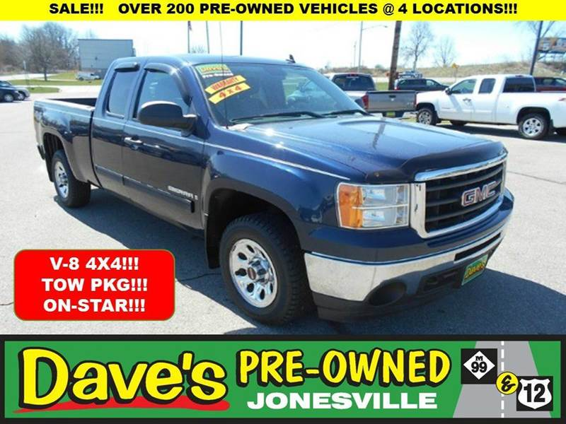 2009 GMC SIERRA 1500 4X4 4DR EXTENDED CAB 65 FT SB blue 0 reported accidents and only 1 owner