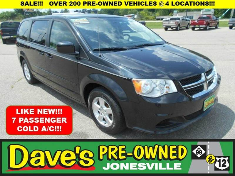 2013 DODGE GRAND CARAVAN SXT 4DR MINI VAN black 0 reported accidents and only 1 owner  clean gr