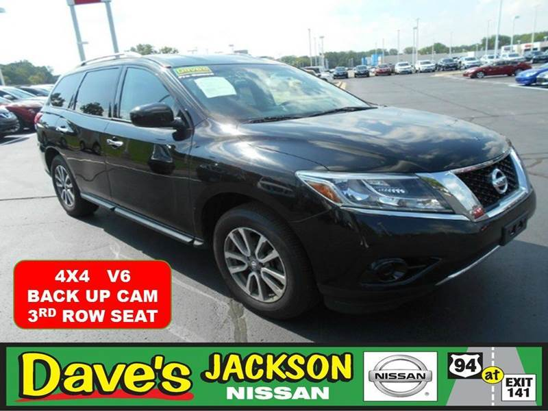 2013 NISSAN PATHFINDER SV 4X4 4DR SUV black 3000 push pull or drag reflected in the price listed