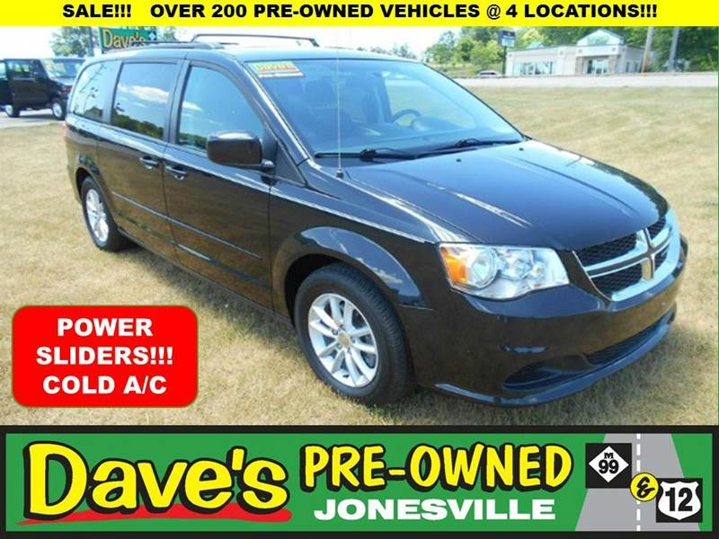2014 DODGE GRAND CARAVAN SXT 4DR MINI VAN black 0 reported accidents and only 1 owner  clean gr