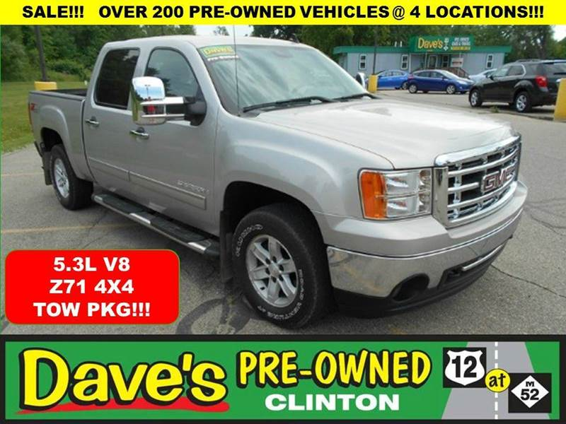 2008 GMC SIERRA 1500 SLE2 4WD 4DR CREW CAB 58 FT SB silver 3000 min for your trade is back