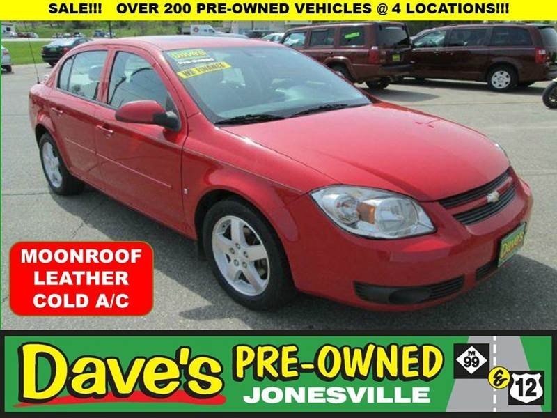 2008 CHEVROLET COBALT LT SEDAN red 10 test drives to the american cancer society relay for life