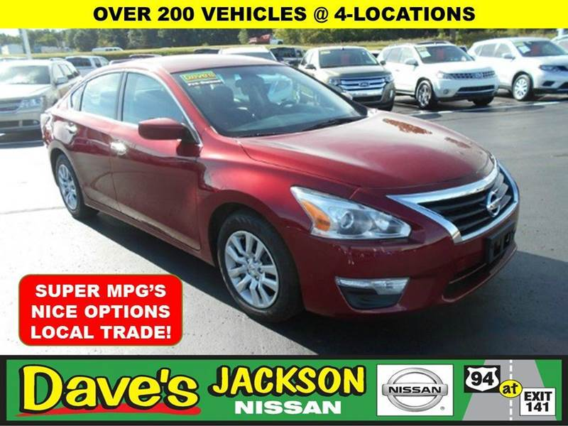 2014 NISSAN ALTIMA 25 S 4DR SEDAN red 3000 push pull or drag reflected in the price listed