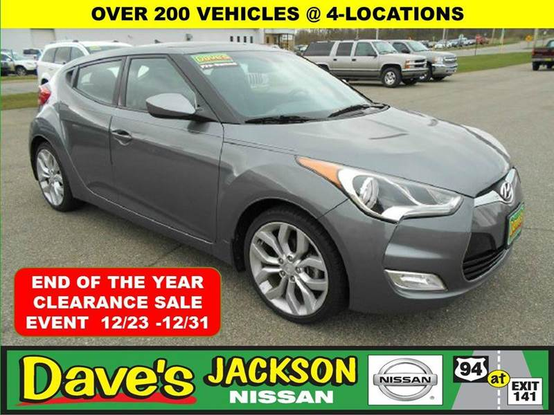 2013 HYUNDAI VELOSTER 3DR COUPE 6M WBLACK SEATS gray 10 test drives to the american cancer soci