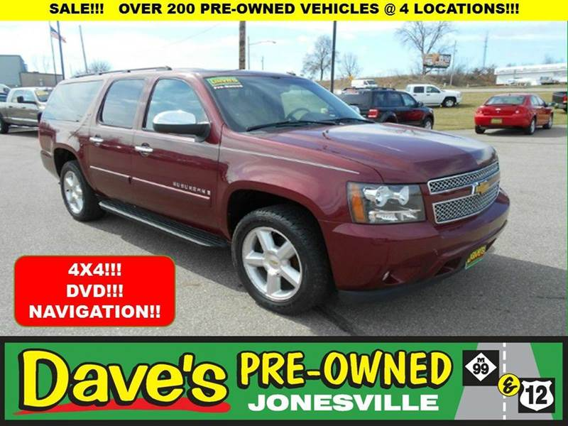 2008 CHEVROLET SUBURBAN LTZ 1500 4X4 4DR SUV red 1 owner and 0 reported accidents per auto check