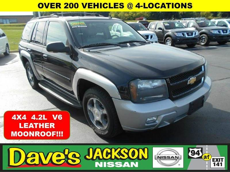 2006 CHEVROLET TRAILBLAZER LT 4DR SUV 4WD black 3000 push pull or drag reflected in the price l