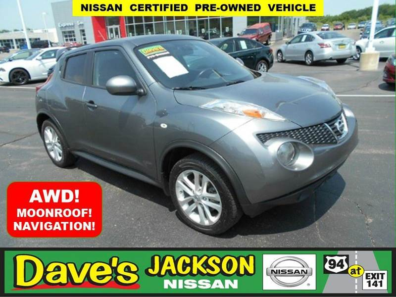 2013 NISSAN JUKE SV AWD 4DR CROSSOVER gun metal 3000 push pull or drag reflected in the price l