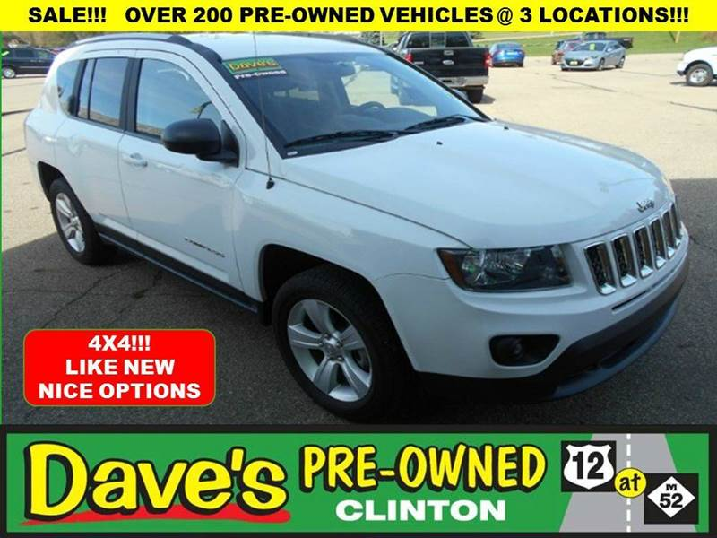 2016 JEEP COMPASS SPORT SE 4X4 4DR SUV white price includes  3000 push pull or dragis back