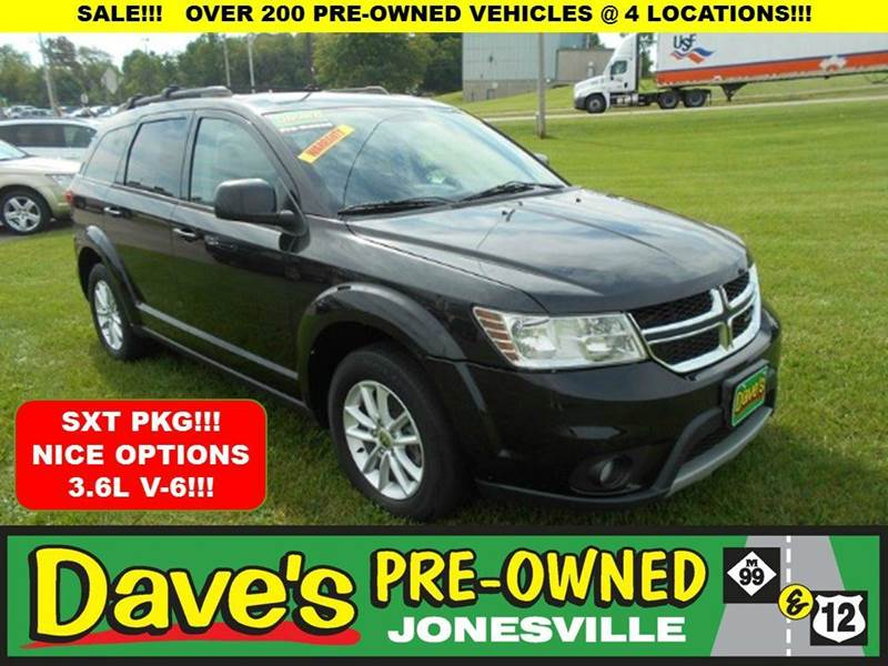 2013 DODGE JOURNEY SXT black 0 reported accidents and only 1 owner  clean journey nice sxt op