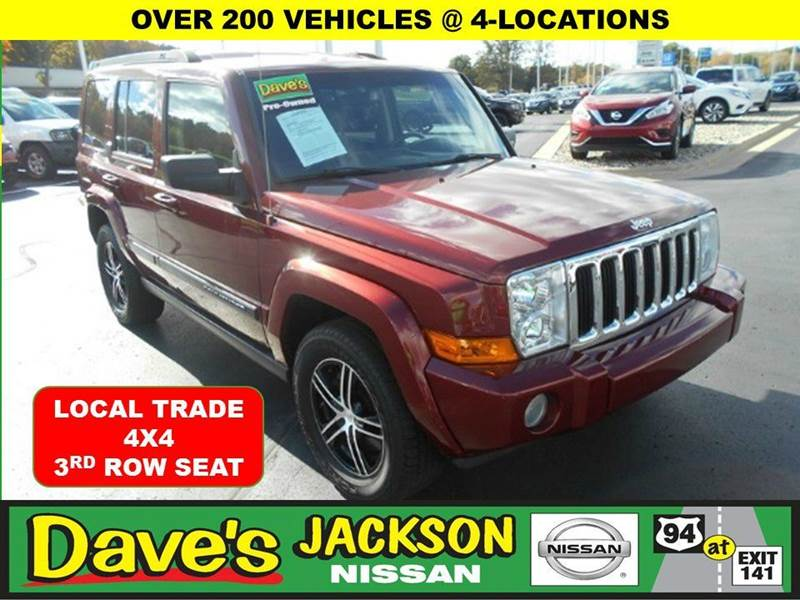 2007 JEEP COMMANDER SPORT 4DR SUV 4WD red 3000 push pull or drag reflected in the price listed