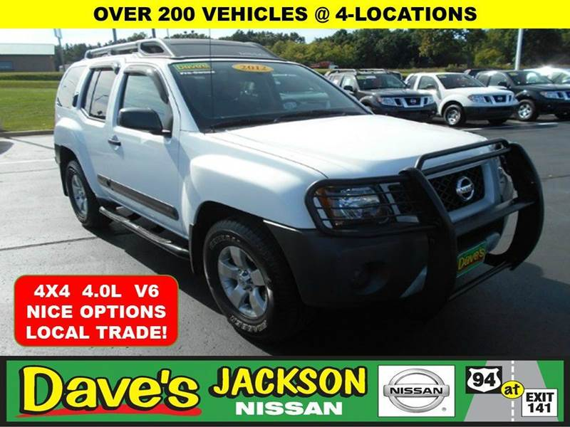 2012 NISSAN XTERRA X 4X4 4DR SUV white 3000 push pull or drag reflected in the price listed