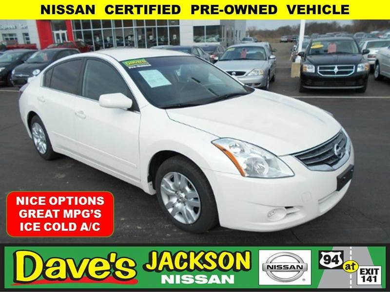 2012 NISSAN ALTIMA 25 S 4DR SEDAN white 3000 push pull or drag reflected in the price listed