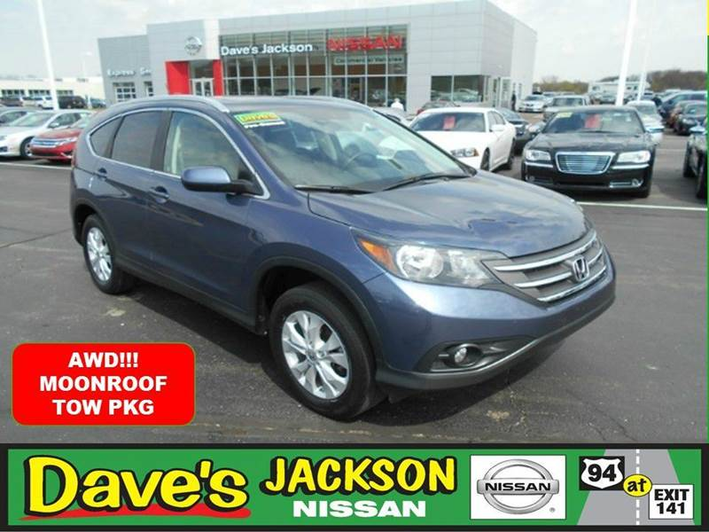 2012 HONDA CR-V EX-L AWD 4DR SUV blue 3000 push pull or drag reflected in the price listed  y
