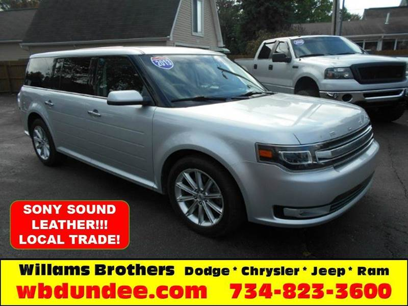 2013 FORD FLEX LIMITED brilliant silver local tradewell behind book valuegreat buy her