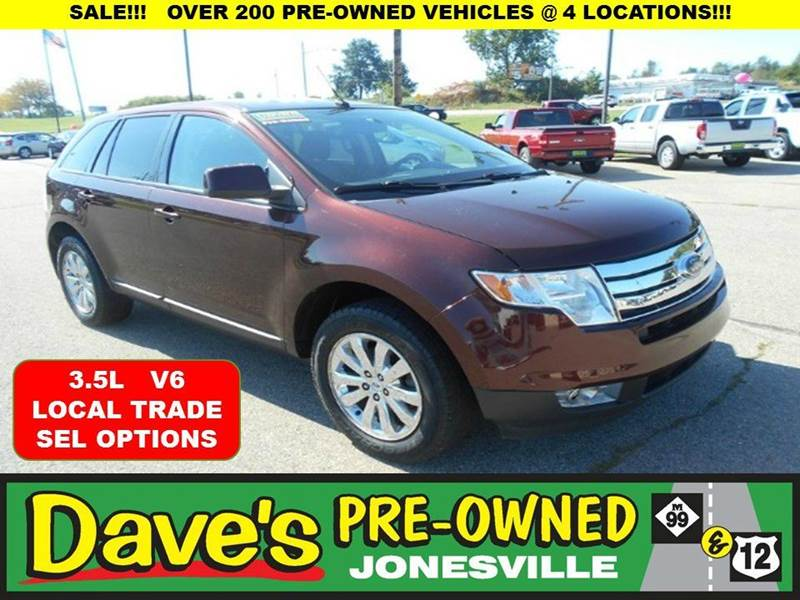 2010 FORD EDGE SEL 4DR SUV red 10 test drives to the american cancer society relay for life  l
