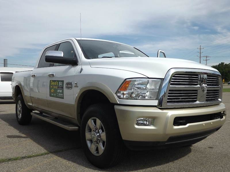 2012 RAM RAM PICKUP 2500 LARAMIE LONGHORN 4X4 4DR CREW CA white check out this amazing loaded dies