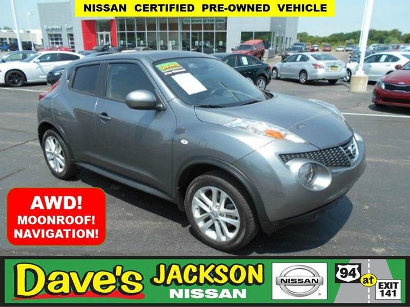 2014 NISSAN JUKE SV AWD 4DR CROSSOVER gray 3000 push pull or drag reflected in the price listed