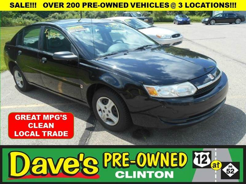 2003 SATURN ION 1 4DR SEDAN black 3000 push pull or dragis back all through august  your