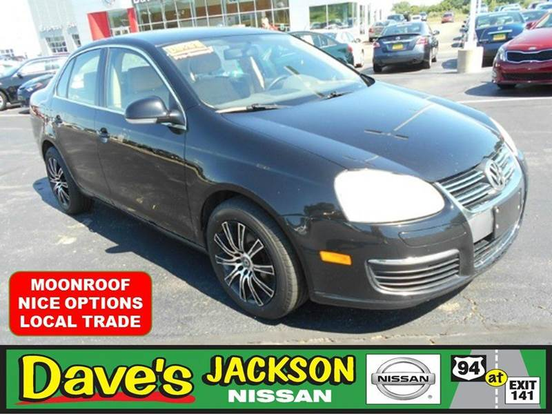 2006 VOLKSWAGEN JETTA 25 4DR SEDAN WAUTOMATIC black local trade jetta with nice options abs
