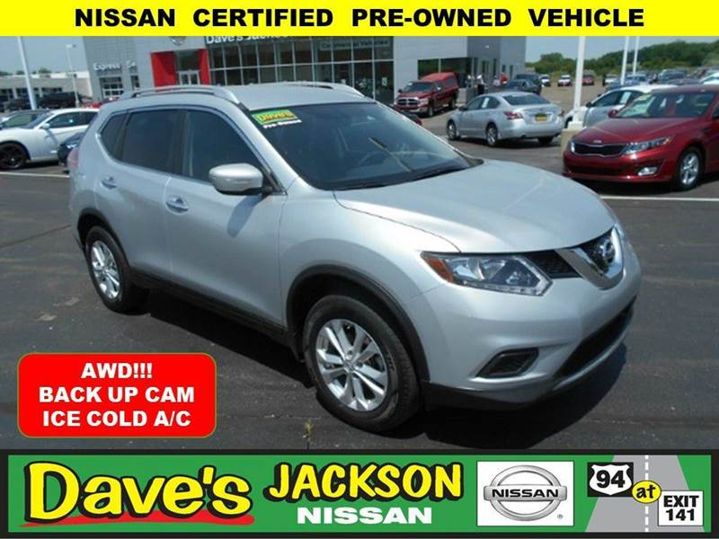 2015 NISSAN ROGUE SV AWD 4DR CROSSOVER silver 3000 push pull or drag reflected in the price list
