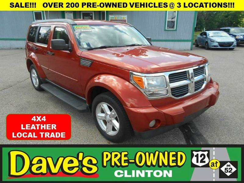2007 DODGE NITRO SLT 4WD 4DR SUV orange 1st time buyer programglittle or no down payment  char
